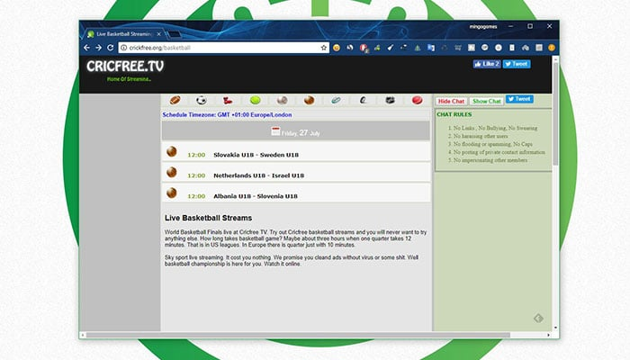 Ver NBA Online gratis - crickfree
