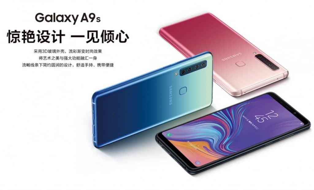 Samsung Galaxy A9s acabados