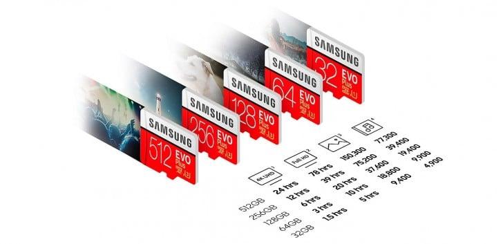 microSD Samsung 512GB especificaciones