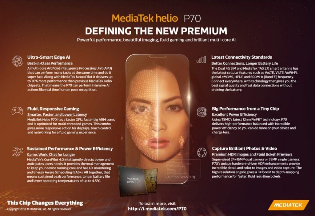 procesador Helio P70 especificaciones