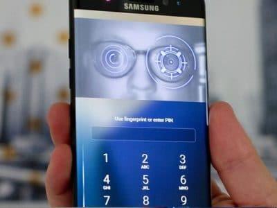 Escáner de iris del Samsung Galaxy S10