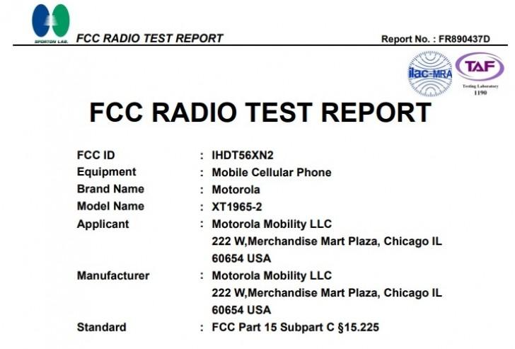 Motorola Moto G7 en la FCC