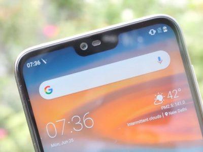 Nokia 6.1 Plus muesca en pantalla