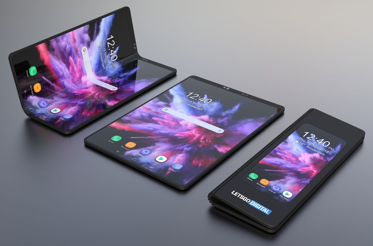 Samsung Galaxy F renders 3D