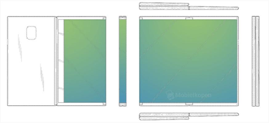 Tablet plegable Samsung patente